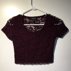 Topshop Lacy Crop Top